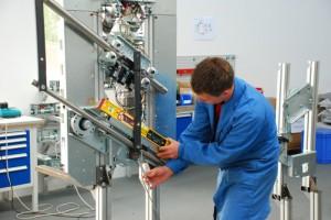 Vormontage im Herstellerwerk